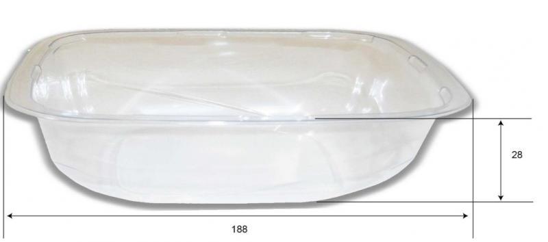 Vaschetta con coperchio separato