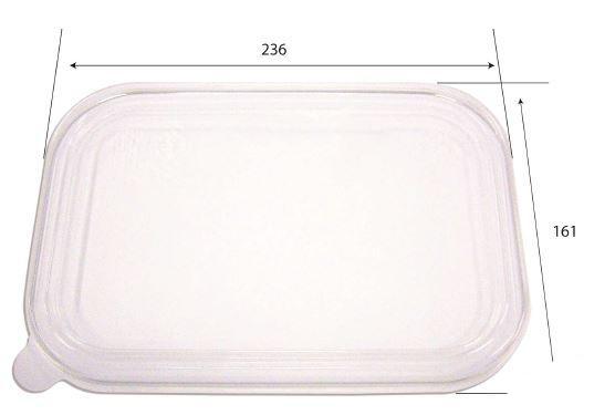 Coperchio trasparente per vaschette da 850 e 1000 ml