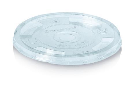 Coperchio trasparente piano con foro pretagliato per bicchiere da 400, 500 e 600 ml