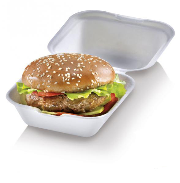 Box burger small richiudibile in polpa di cellulosa 12 x 12 x 6,8 cm
