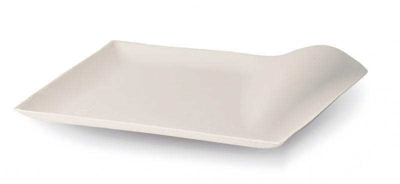 Piatto quadrato in polpa di cellulosa linea finger food