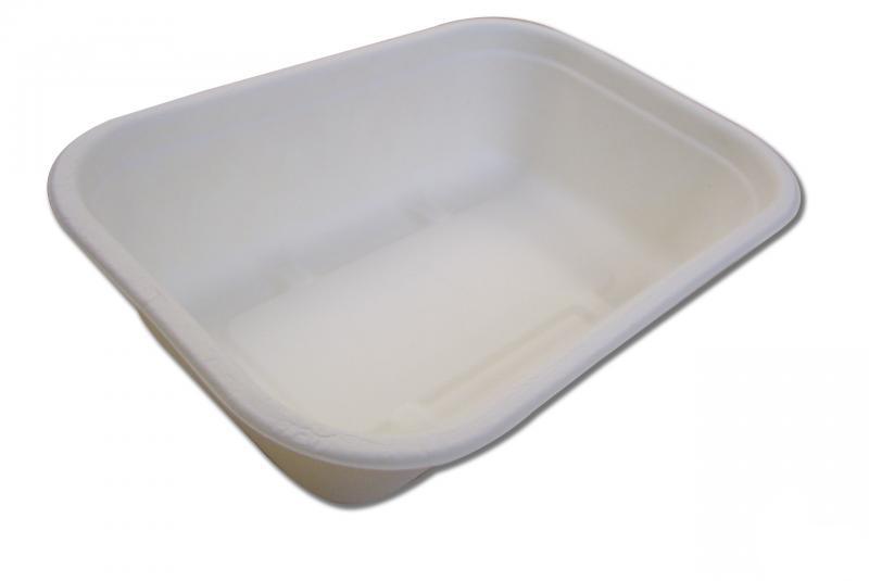 Vaschetta da asporto in polpa di cellulosa 1000 ml, 230x155x57mm