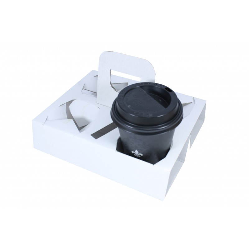 Cestino 4 fori con maniglia x caffè da asporto