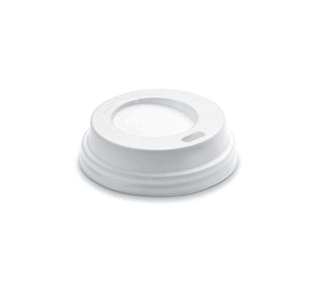 Coperchio in polistirene con beccuccio per bicchiere da 125 ml