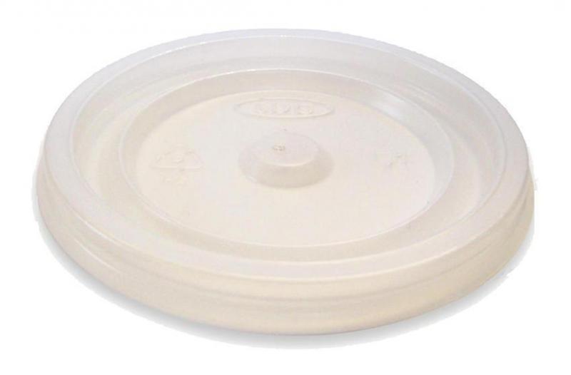 Coperchio piano in polistirene per bicchiere da 230ml