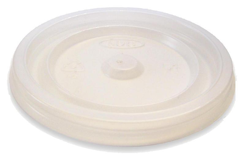 Coperchio piano in polistirene per bicchiere da 125 ml