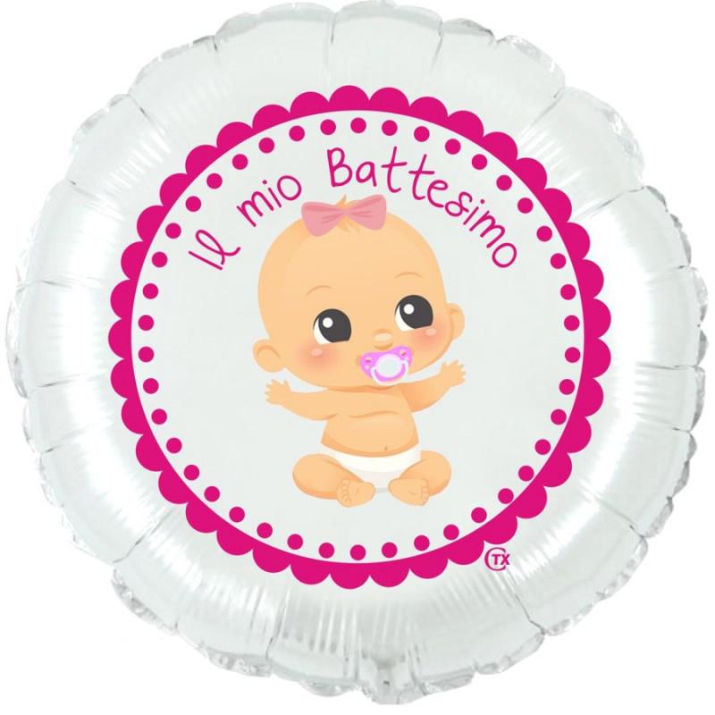 """Battesimo Bimba (18"""") Bianco"""