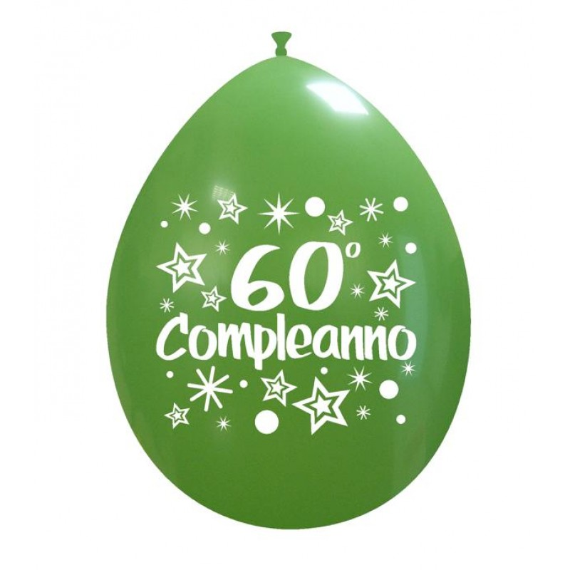 "10"" 60° Compleanno"