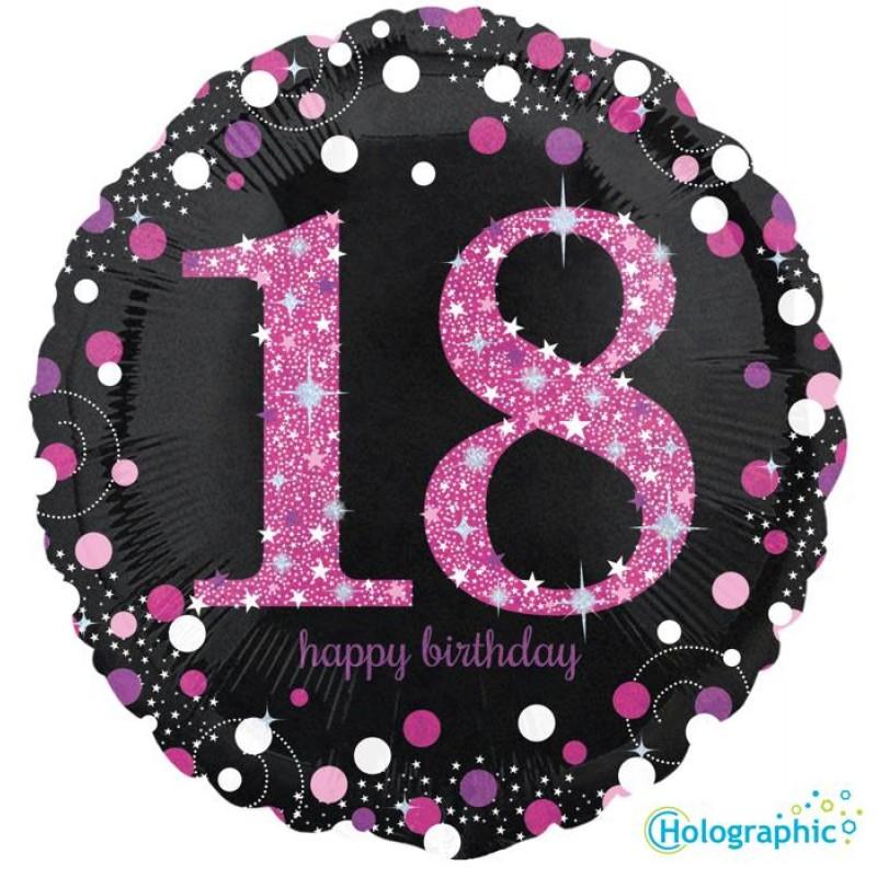 """18 Compleanno Scintillante Rosa (18"""")"""