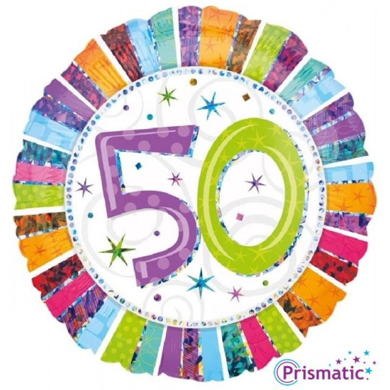 "50 Radiant Birthday (18"")"