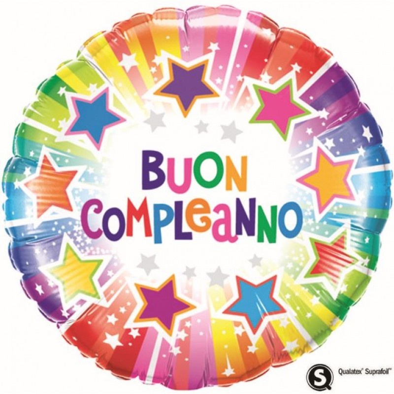 "Buon Compleanno Stelle (18"")"