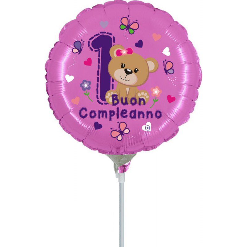 "1° Compleanno Orsetta Minishape (9"")"