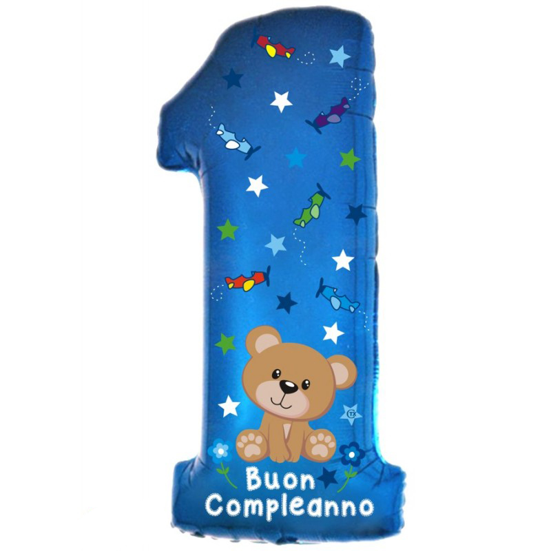 "1° Compleanno Orsetto Supershape (40"")"