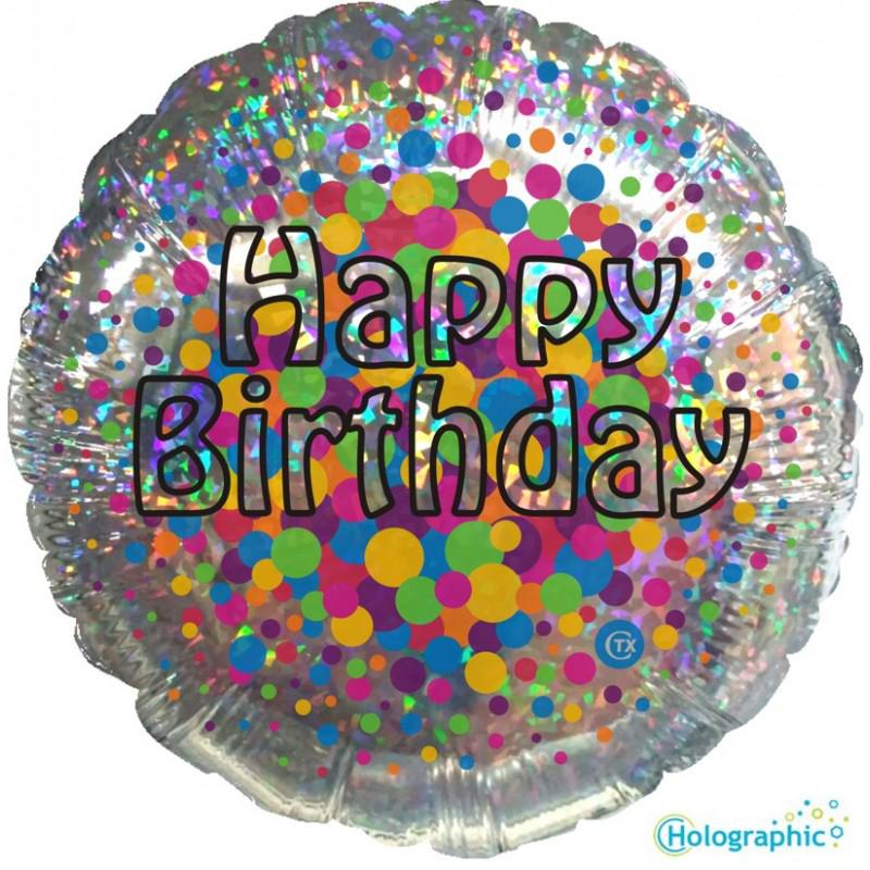 """Buon Compleanno Olografico (18"""")"""