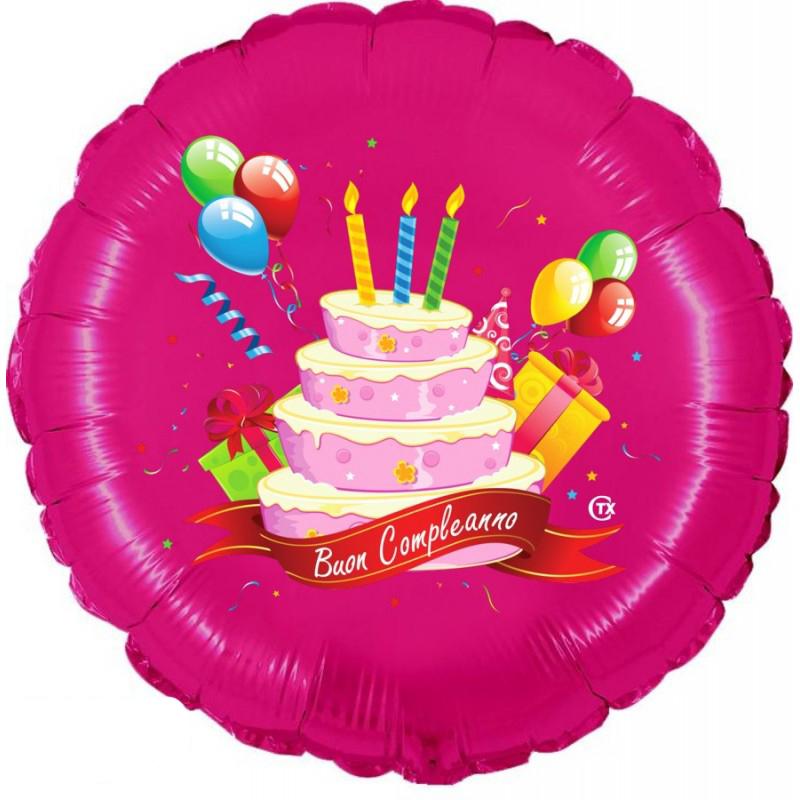 """Buon Compleanno Rosa (18"""")"""