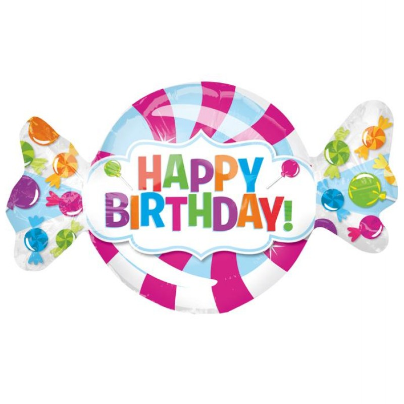 "Happy Birthday Caramella XL® SuperShapes™ (43"")"