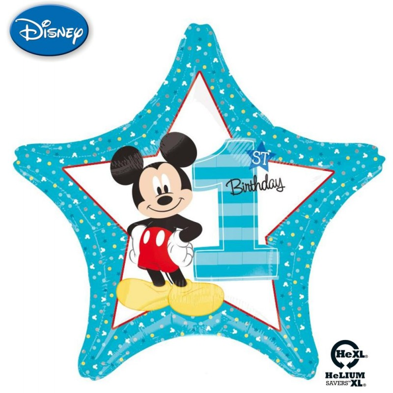 "Mickey 1st Birthday Stella HeXL® (20"")"