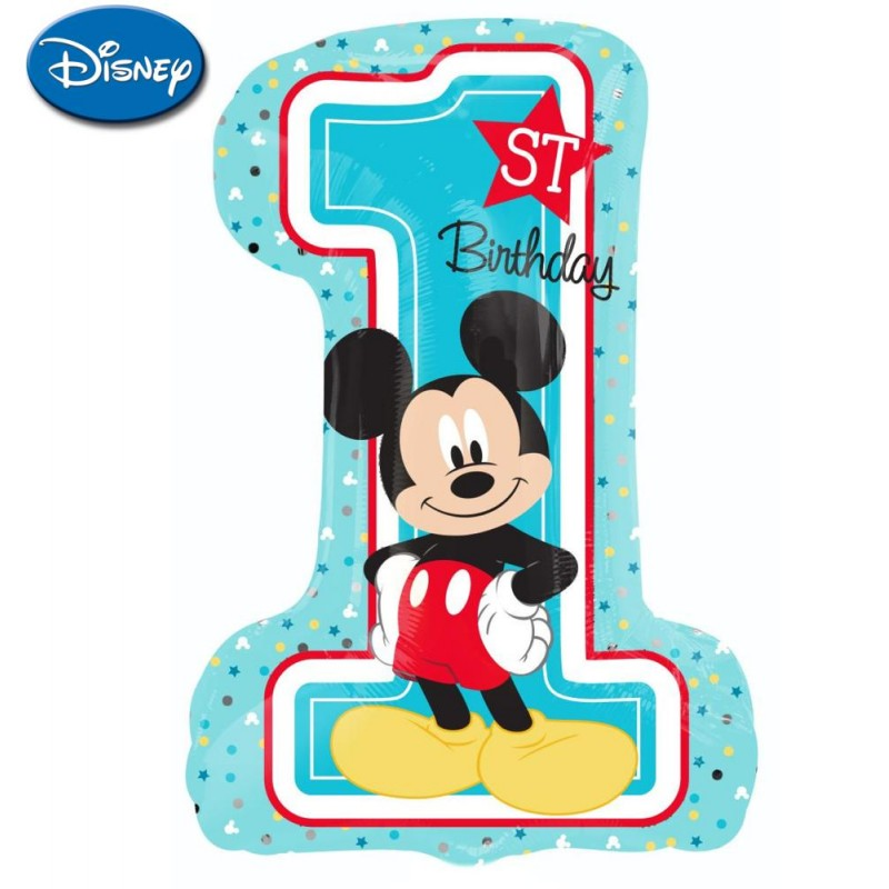 "Mickey 1st Birthday XL® SuperShapes™ (35"")"
