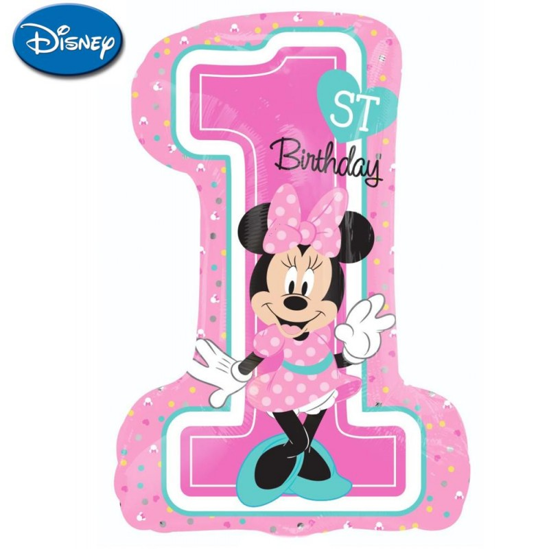 "Minnie 1st Birthday XL® SuperShapes™ (35"")"