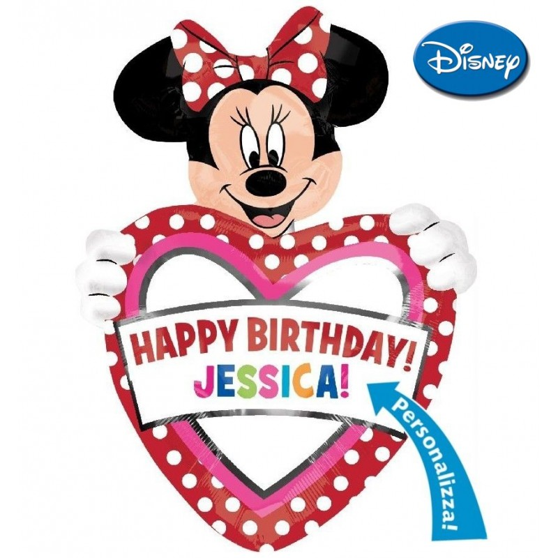 Minnie Birthday + Nome (Grande)