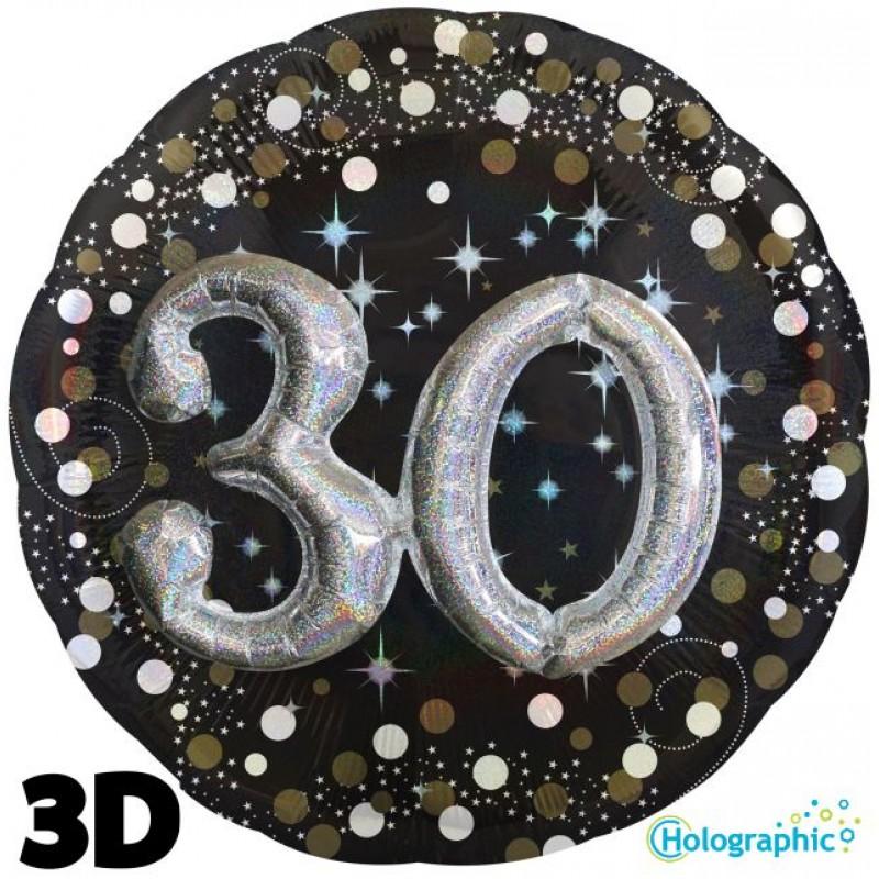 "30 Compleanno Scintillante Multi-Balloon (32"")"