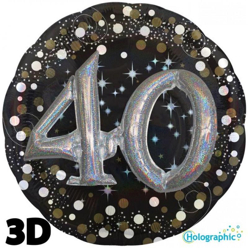 "40 Compleanno Scintillante Multi-Balloon (32"")"