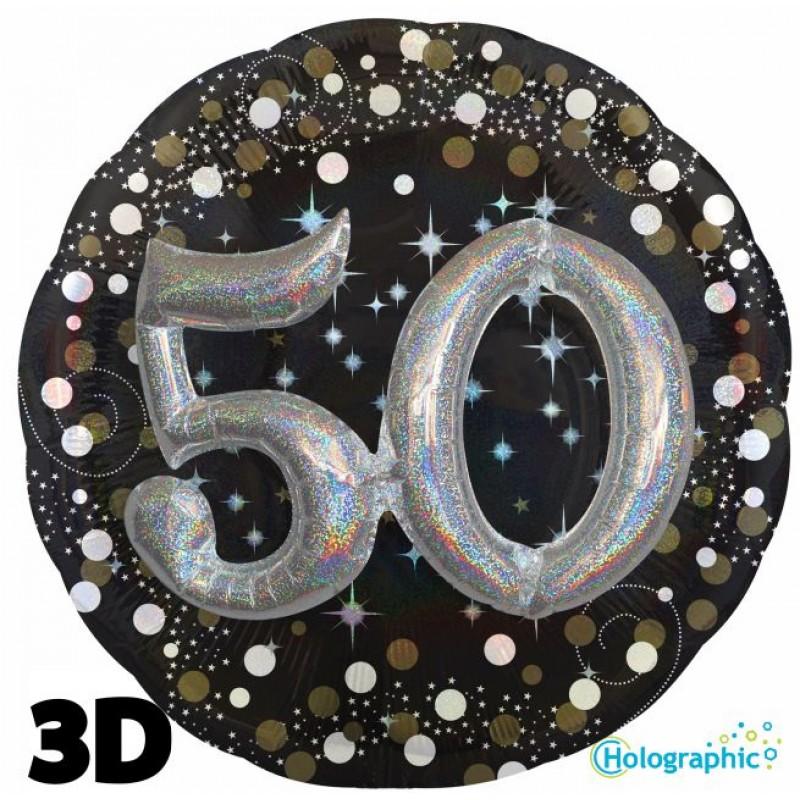 "50 Compleanno Scintillante Multi-Balloon (32"")"