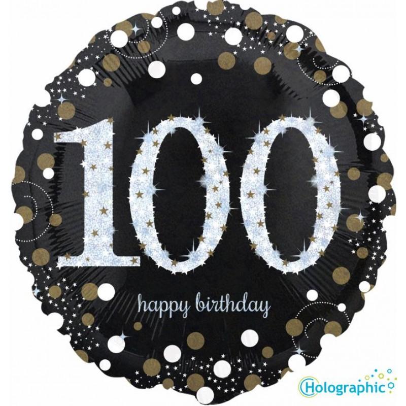 """100 Compleanno Scintillante (18"""")"""