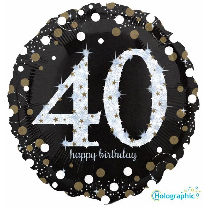 """40 Compleanno Scintillante (18"""")"""