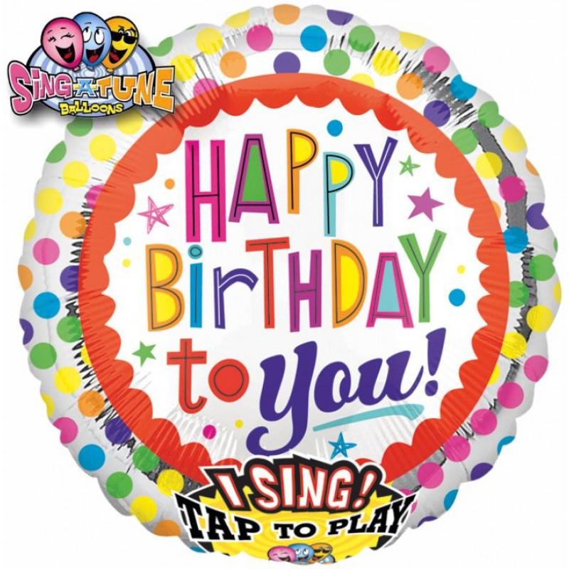 Pallone Canterino - Happy Birthday (28