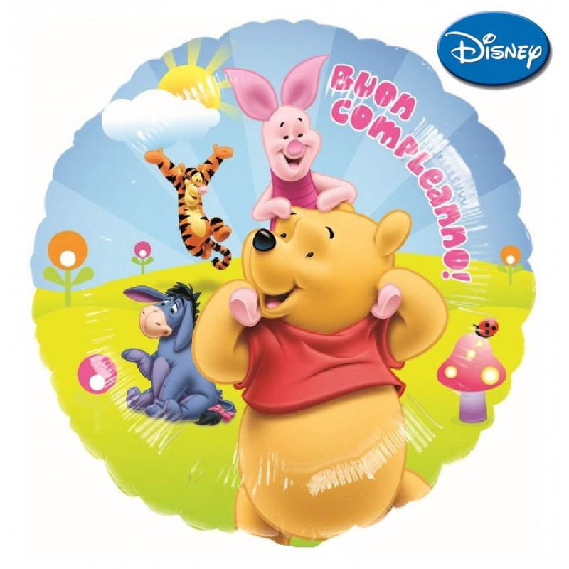 "Winnie the Pooh Buon Compleanno XL® (18"")"