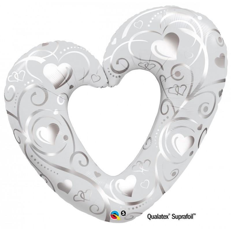 "Cuori & Filigrane Argento SuperShape (42"")"