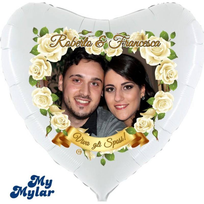 Mylar - Viva gli Sposi Foto + Nomi (Grande)