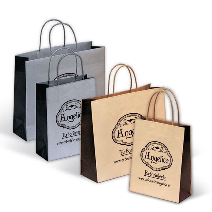 Shoppers J-Fold Bicolore - Maniglia in Cordino di Cotone