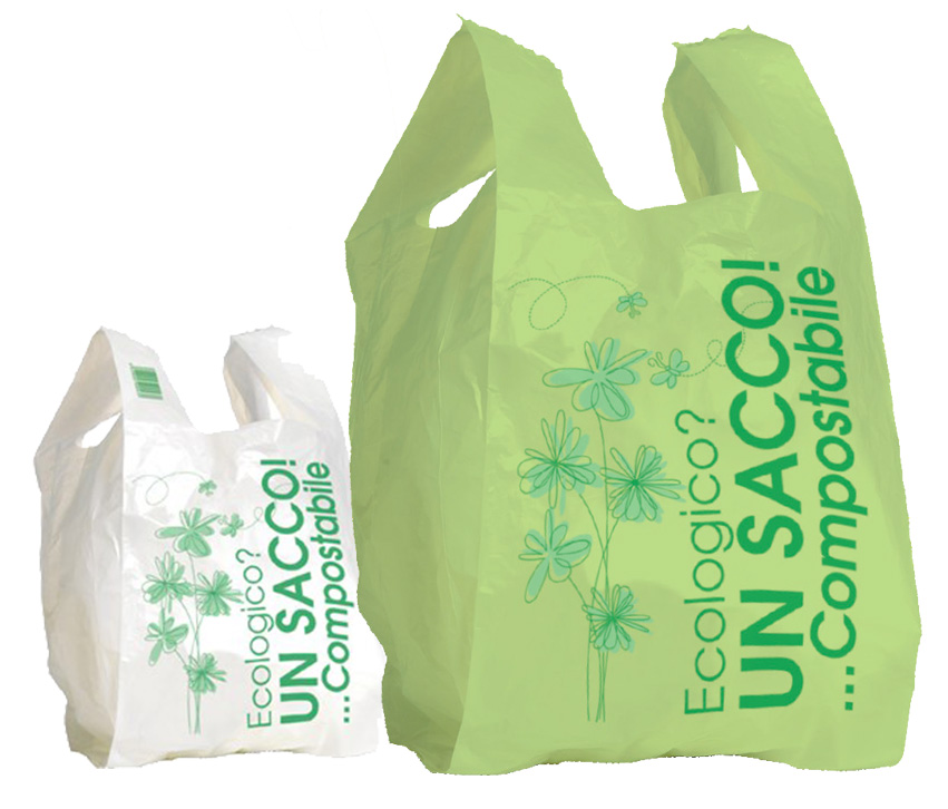 Shopper plastica biodegradabili