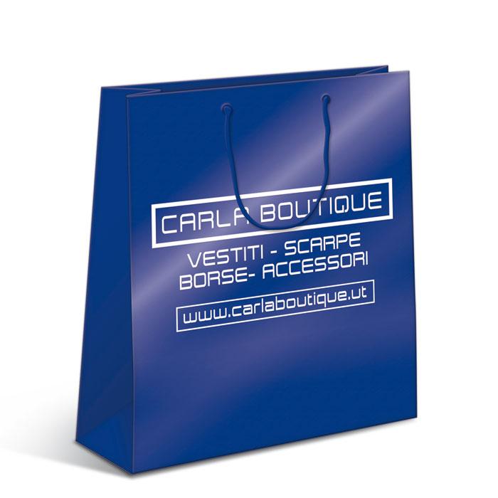 Shoppers plastificata lucida - maniglia in cotone