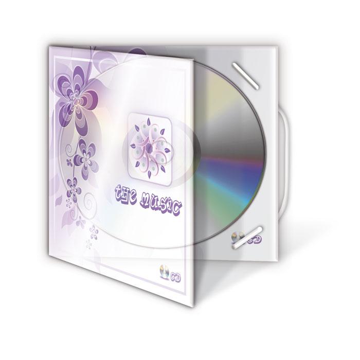 Custodia CD in plastica trasparente con elastico