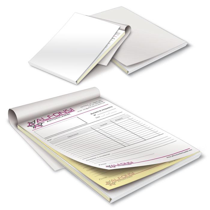 Blocchi copiativi con foglio separatore - 2 copie