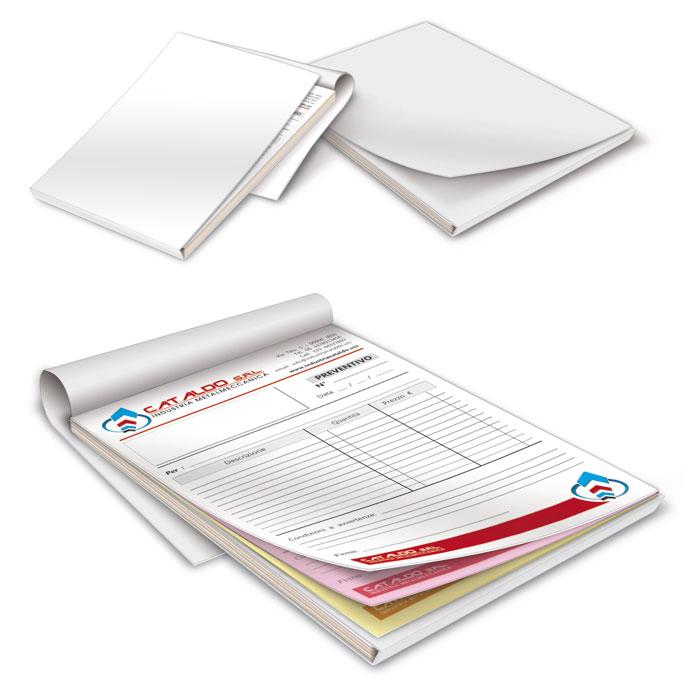 Blocchi copiativi con foglio separatore - 3 copie