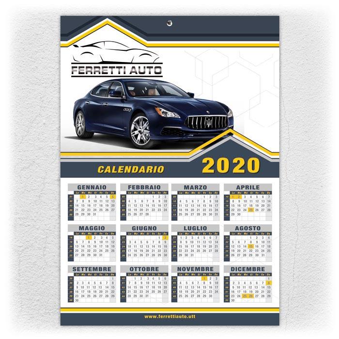 Calendari foglio unico da parete annuali