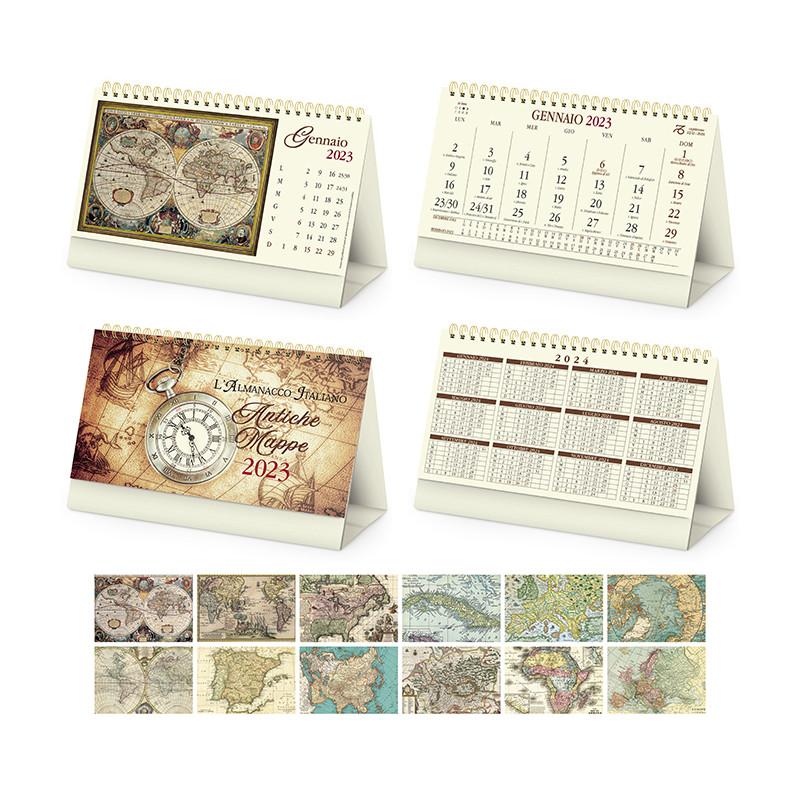 Calendario da tavolo Antiche mappe pa062