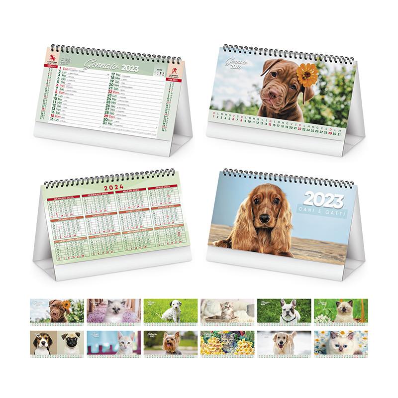 Calendario da tavolo Cani e gatti pa403