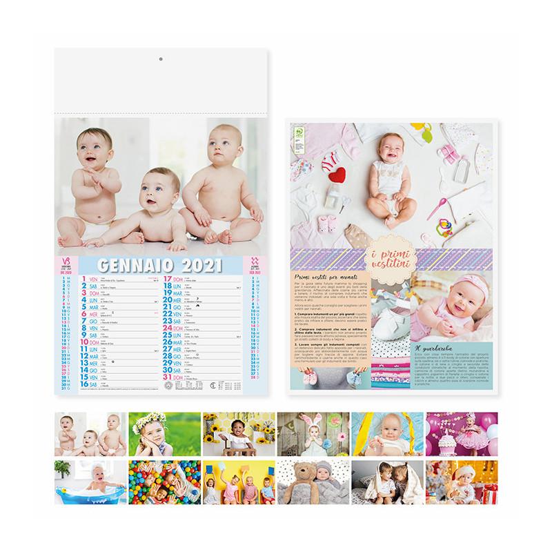 Calendario olandese illustrato bambini pa095