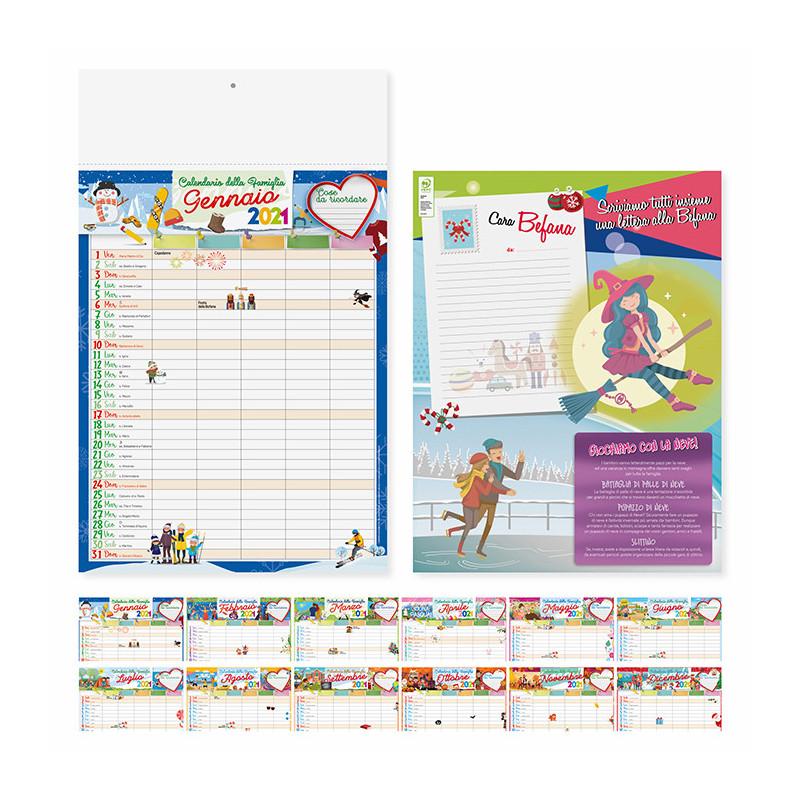 Calendario illustrato Famiglia PA092