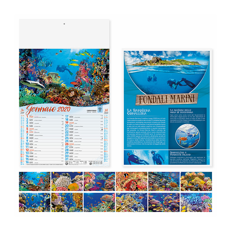 Calendario fondali marini pa120