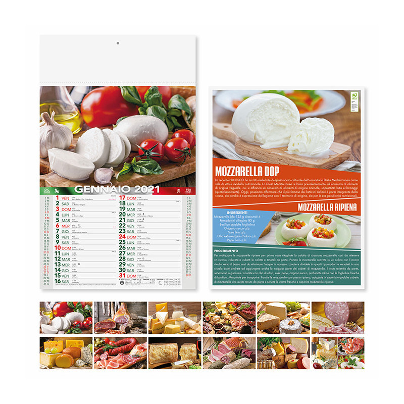 Calendario Prodotti tipici pa140