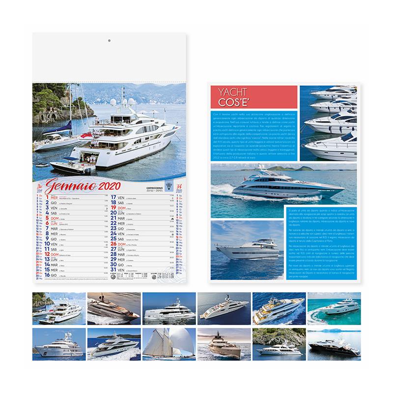Calendario yacht da sogno pa165