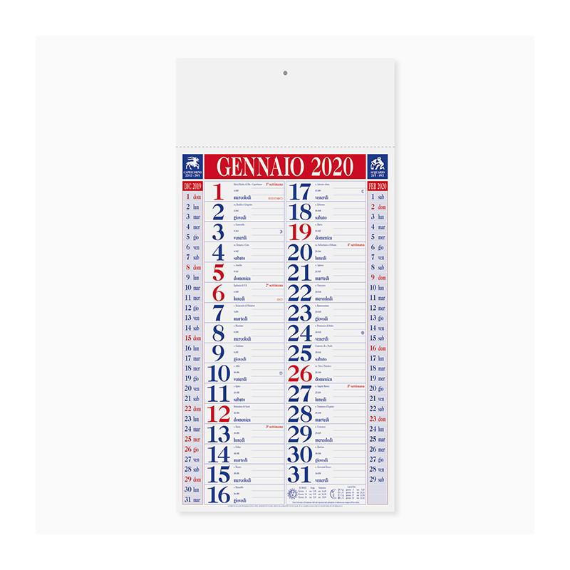 Calendario Olandese quadrettato pa612