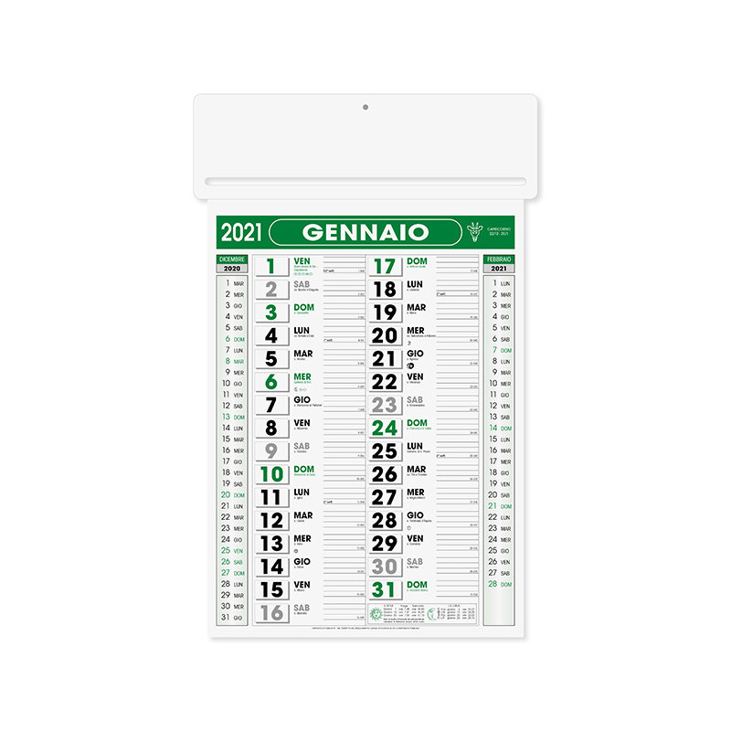 Calendario passafoglio pa550