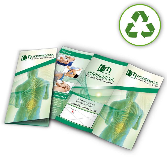 Depliant carte riciclate